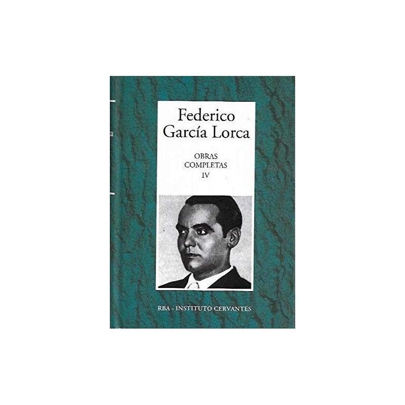 Obras Completas IV [Tapadura] García Lorca, Federico [Dec 05, 2006] - 8447349349