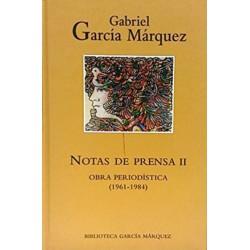 Notas De Prensa II De Gabriel García Márquez 9788447334087 www.todoalmejorprecio.es